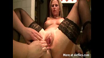 hungyoungbrit Fisting the wifes huge pussy till she orgasms