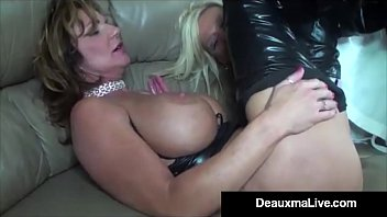lizrose90 Role Play by Sexy Cat Woman Milf Deauxma Ends In 3 Way Fuck