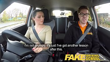pornhubm Fake Driving School little English teen gets fucked after her lesson