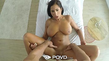www hclips com POVD - Stacy Jay&rsquos big rack wobbles when fucked POV style