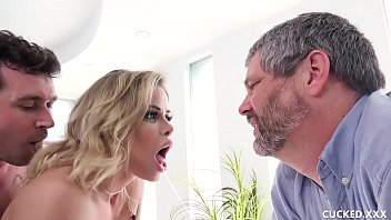 fuckermate Big Tit Blonde Gets Fucked By A Bigger Cock Than Her Cucked Husband Has