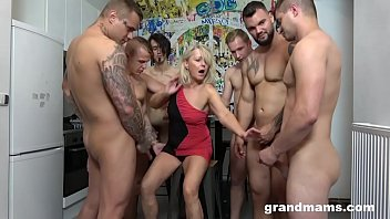 pornh First Ever Grandma GangBang Cum Everywhere