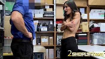 porbtube Emily Willis plays shy with mall cop