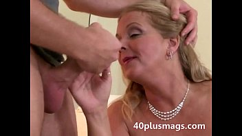 yesporn Chubby blonde wife takes young stud
