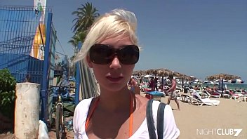 cumpilation Anal slut Cristal Moranti looking for a party in Ibiza