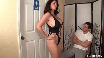 rebtude Angry step-mom jerking the young man