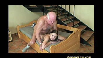 Old grandpa fucking young babe