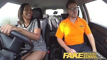 gayjapanese Fake Driving School Pretty black girl seduced by driving instructor