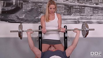 incestflix Fitness slut Nikky Dream goes pantyless to Gym & gets Skull Fucked