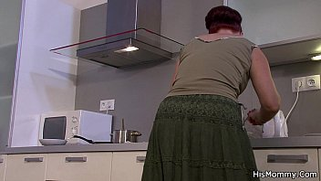 pprnhub His mommy and teen go lesbian on kitchen