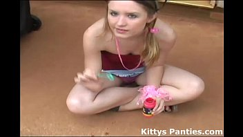 str8hell Blowing bubbles in my tiny little skirt