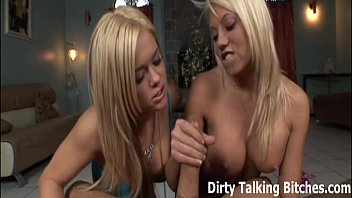 xxxtrans POV double blowjob from two hot blondes