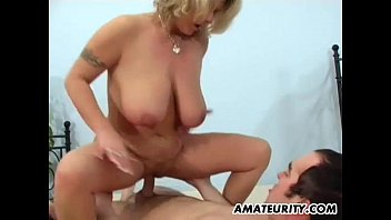 xvide Busty amateur mom sucks and fucks with facial