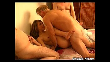 sexxxx Teen amateur slut gangbanged by older guys