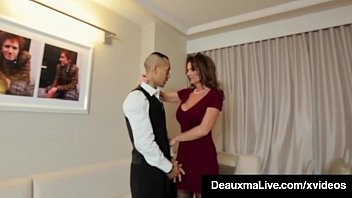 x  Horny Cougar Babe Deauxma Fucks Room Service Guy in Hotel