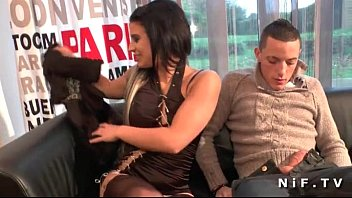 kantotan Dark haired french babe with shaved pussy anal fucked for her casting