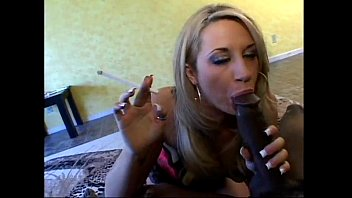tube9 Hot blonde suck huge black cock while smoking