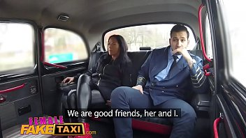 xgoro Female Fake Taxi Pilot delivers facial after landing his cock in Euro pussy