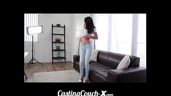 luder cc Casting Couch-X Teen softball pitcher ready to catch cock
