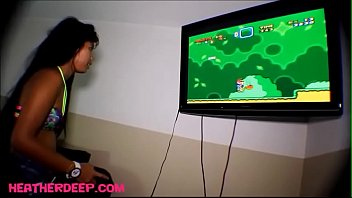 xxxyoung heather Deep playing super mario brother gets deepthroat throatpie