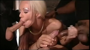 xvodeos Blonde slut gang banged by interracial gang