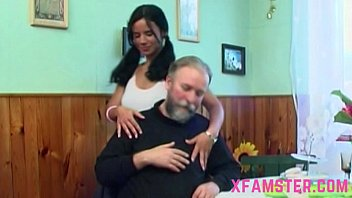 pornhb Horny old grandfather takes petite young tiny wet amateur teen fuckhole hard