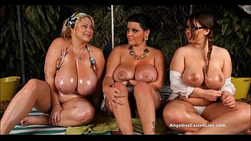 coozhound Angelina Castro OutDoors Oily ThreeSome and Sex Stories