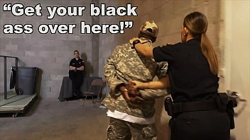 tude8 BLACK PATROL - Fake Soldier Gets Used As A Black Fuck Toy By White Cops