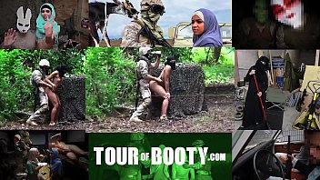 blackgfs TOUR OF BOOTY - Local Arab Working Girl Entertains American Soldiers In The Middle East