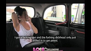 topvideos88 Love Creampie British slut gives fake taxi driver deep blowjob before anal